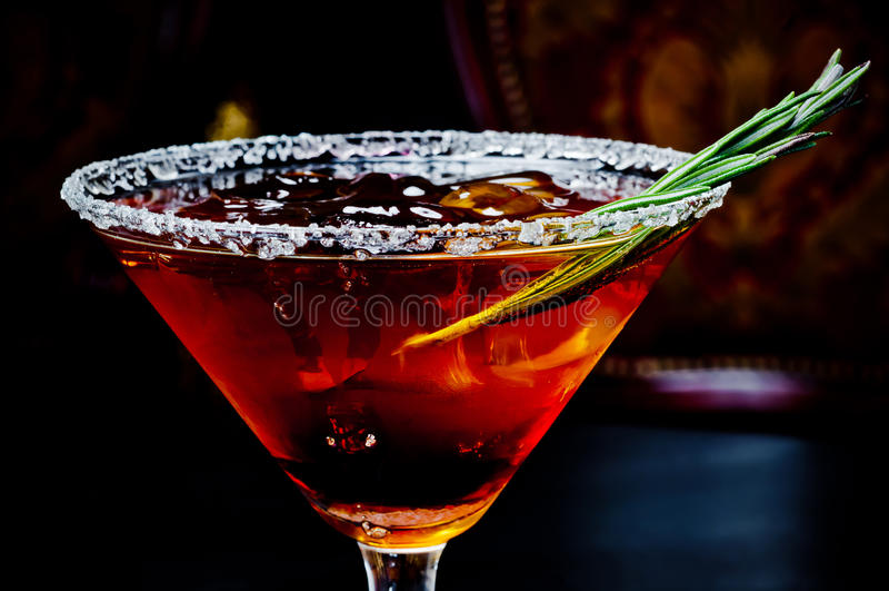 Bello cocktail freddo immagine stock