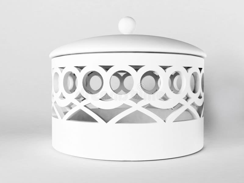 Bello cofanetto bianco ceramico illustrazione vettoriale