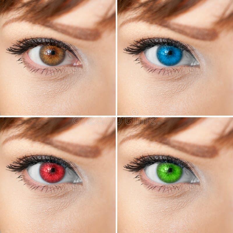 Bello collage dell'occhio della donna immagini stock libere da diritti