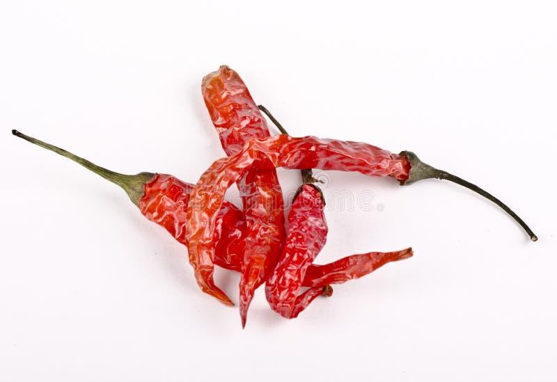 Bello colpo dei peperoncini rossi asciutti di rosso indiano immagini stock