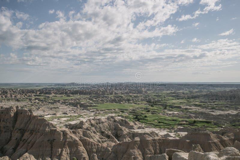 Bello colpo del parco nazionale in Sud Dakota, U.S.A. dei calanchi immagini stock libere da diritti