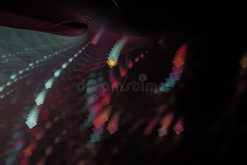 Bello creativo di bella di potere dell'estratto progettazione vibrante magica digitale di frattale illustrazione di stock