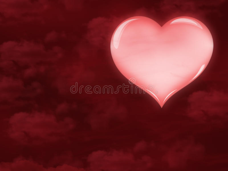 Bello cuore rosa illustrazione vettoriale