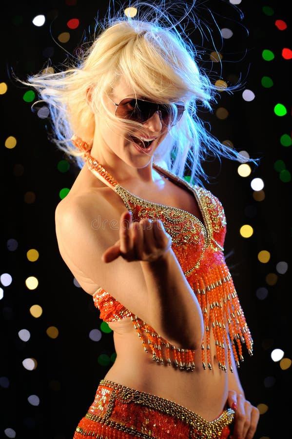 Bello dancing della donna fotografia stock
