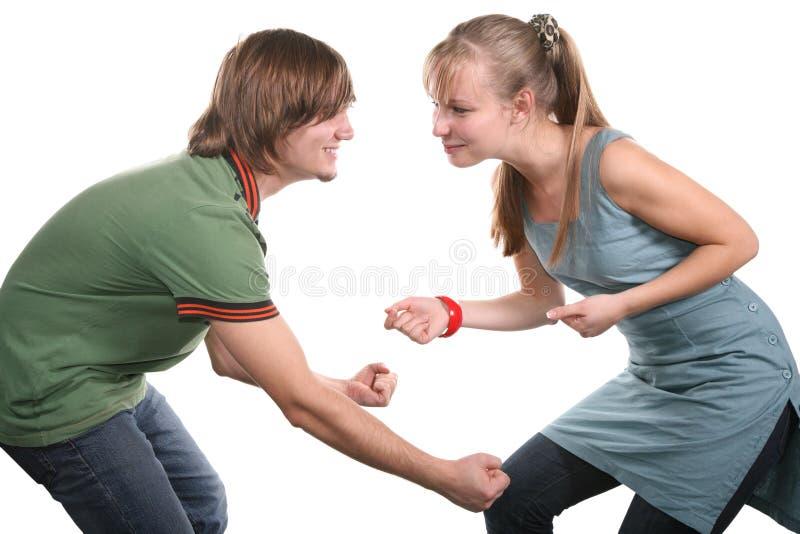 Bello dancing delle coppie immagine stock libera da diritti