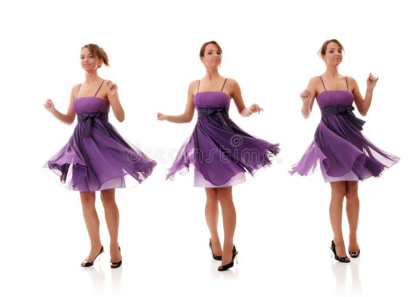 Bello dancing sexy della giovane donna fotografia stock