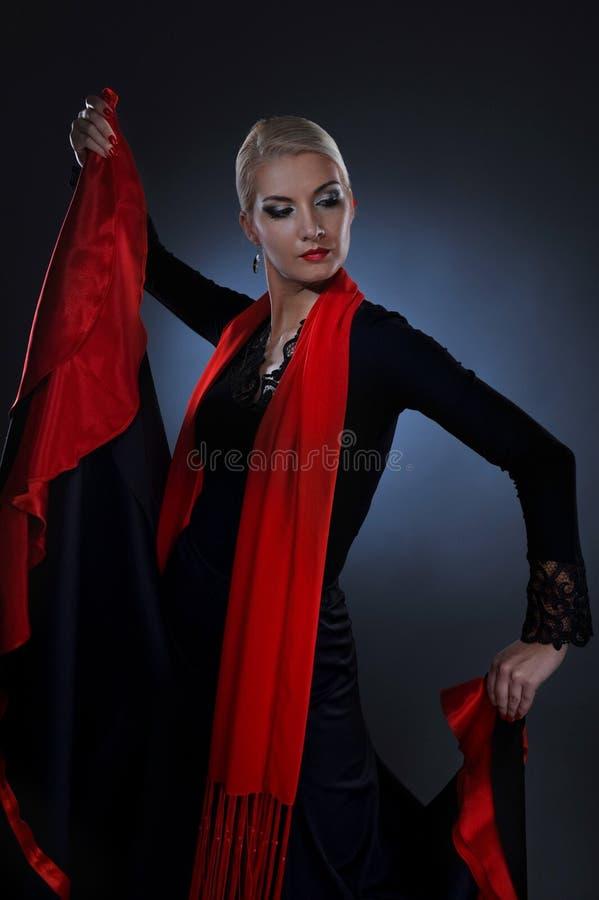 Bello danzatore di flamenco fotografie stock