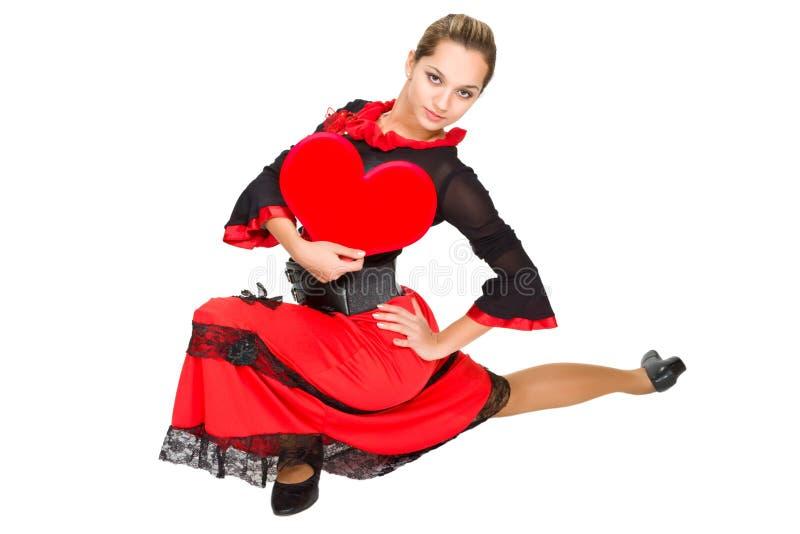 Bello danzatore spagnolo. fotografie stock libere da diritti