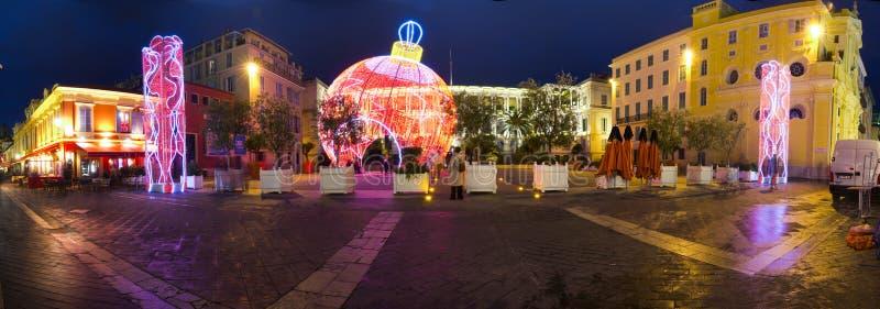 Bello decorato per Natale, Francia fotografie stock libere da diritti