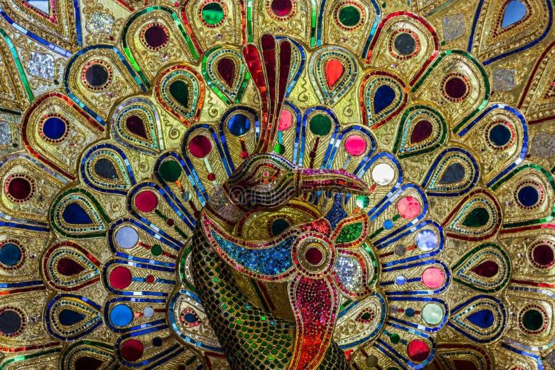 Bello del pavone variopinto del gioiello. fotografia stock libera da diritti
