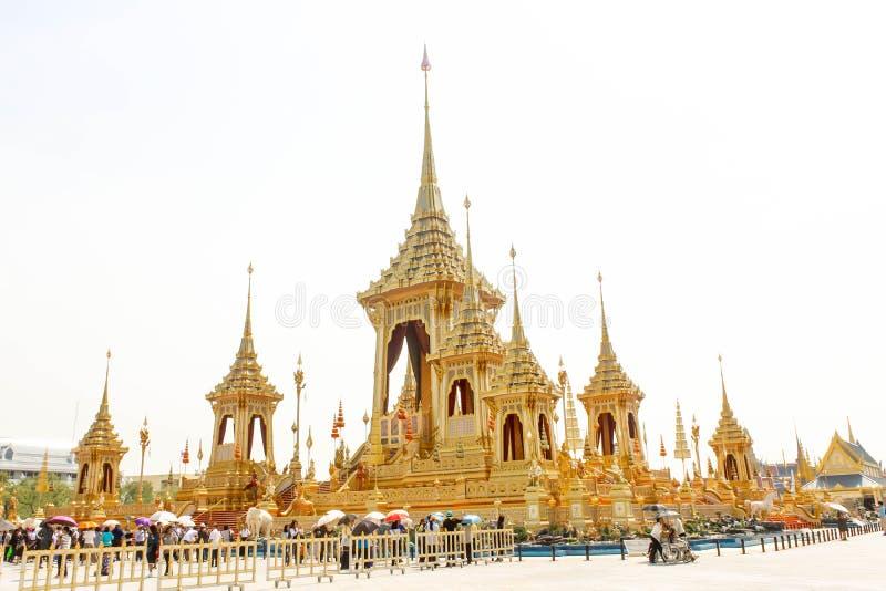 Bello della vista il crematorio reale per il HM il re recente Bhumibol Adulyadej al 4 novembre 2017 fotografia stock