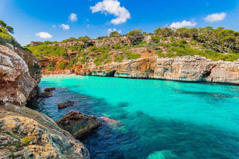 Bello DES Moro Majorca Mallorca Spain di Cala della spiaggia della baia fotografie stock libere da diritti
