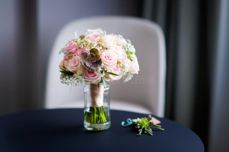 Bello dettaglio del mazzo di nozze fotografie stock libere da diritti