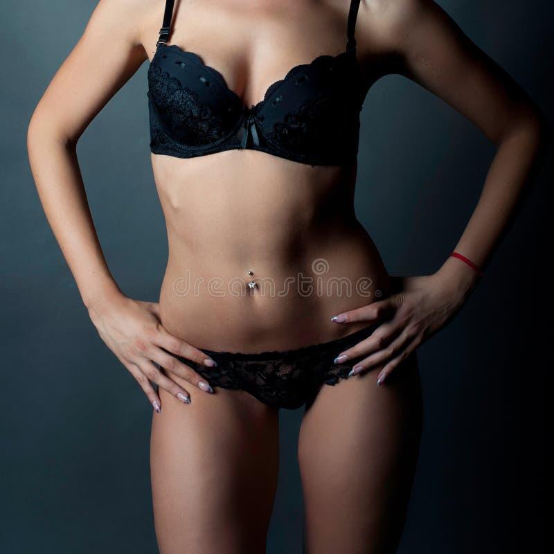 Bello dettaglio di un corpo della ragazza fotografia stock