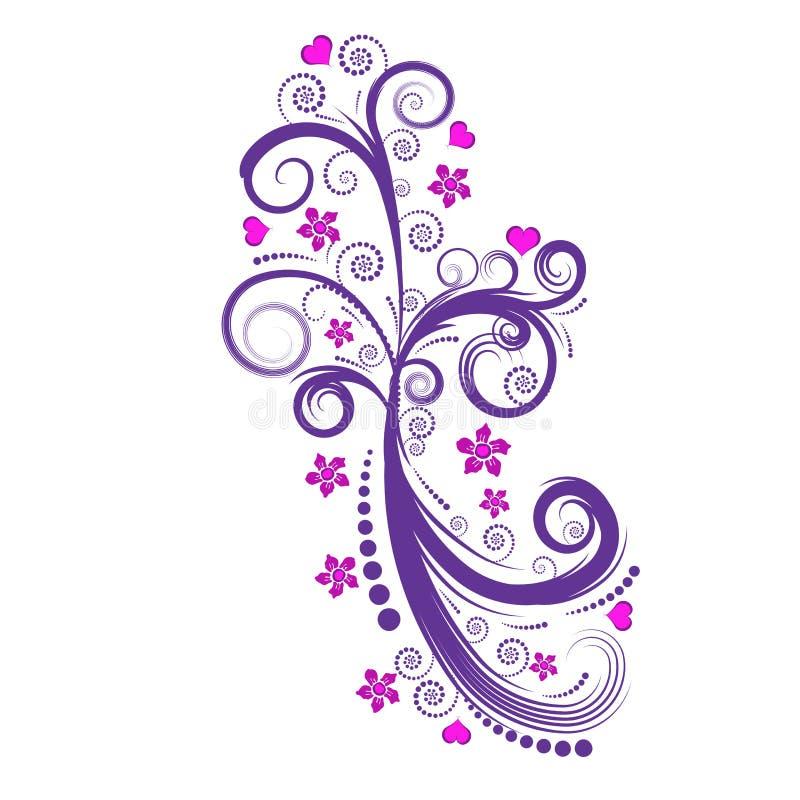Bello disegno del fiore di vettore illustrazione di stock
