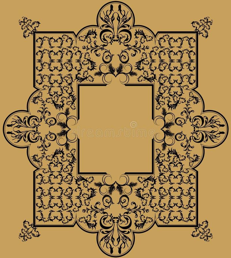Bello e ferro dettagliato illustrazione di stock