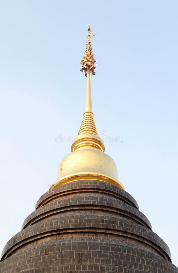 Bello e tempio tailandese famoso di Wat Ban Den, Chiangmai, Tailandia del Nord fotografia stock