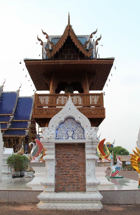 Bello e tempio tailandese famoso di Wat Ban Den, Chiangmai, Tailandia del Nord immagine stock