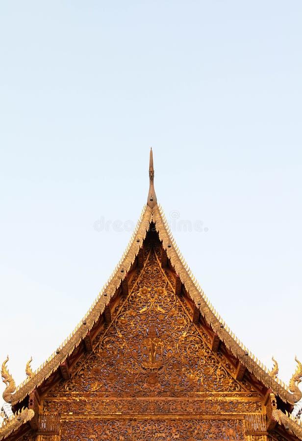 Bello e tempio tailandese famoso di Wat Ban Den, Chiangmai, Tailandia del Nord fotografie stock