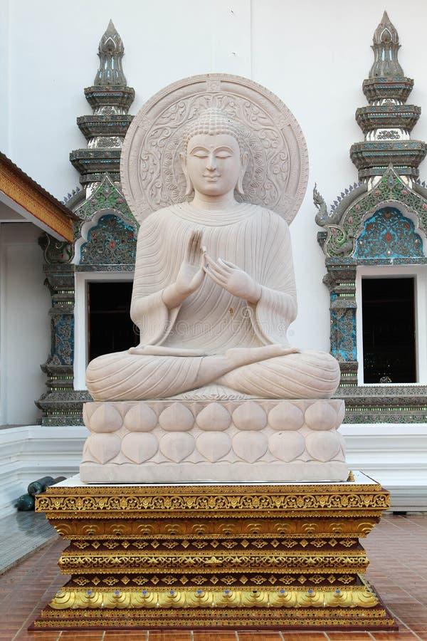 Bello e tempio tailandese famoso di Wat Ban Den, Chiangmai, Tailandia del Nord fotografia stock libera da diritti