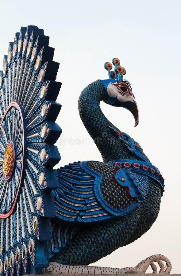 Bello e tempio tailandese famoso di Wat Ban Den, Chiangmai, Tailandia del Nord immagini stock libere da diritti