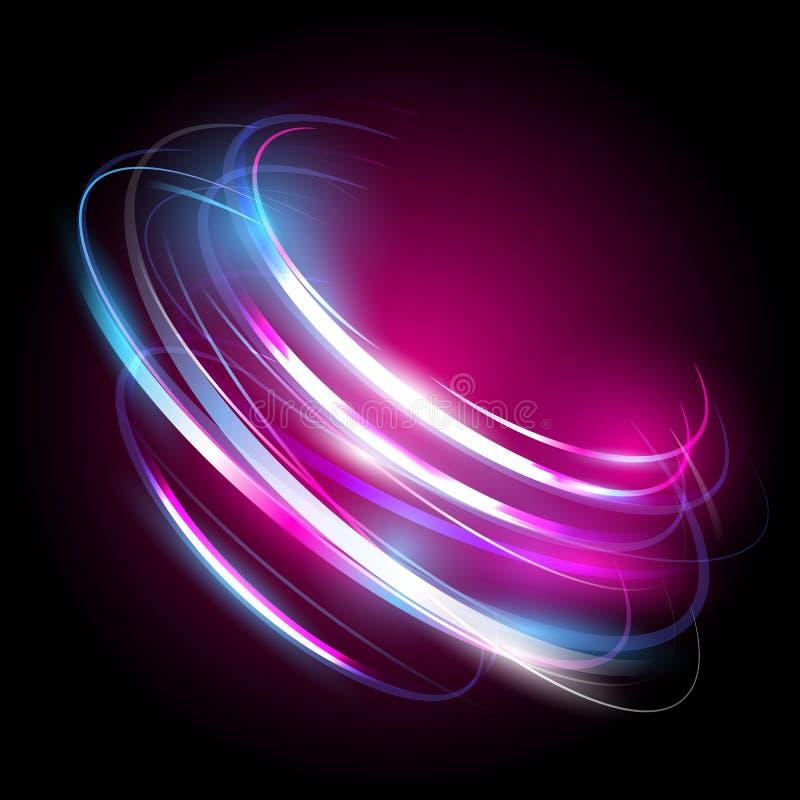 Bello effetto della luce di vettore Luci colorate con il flash Vector il fondo con l'effetto di neon ed emetta luce royalty illustrazione gratis