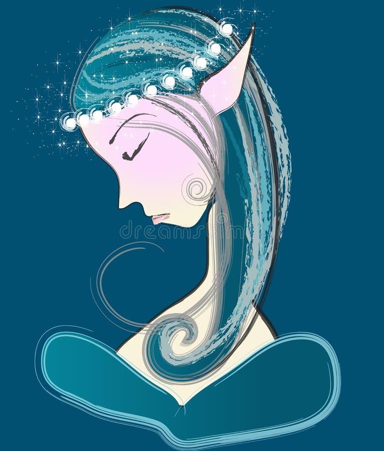 Bello elfo illustrazione di stock