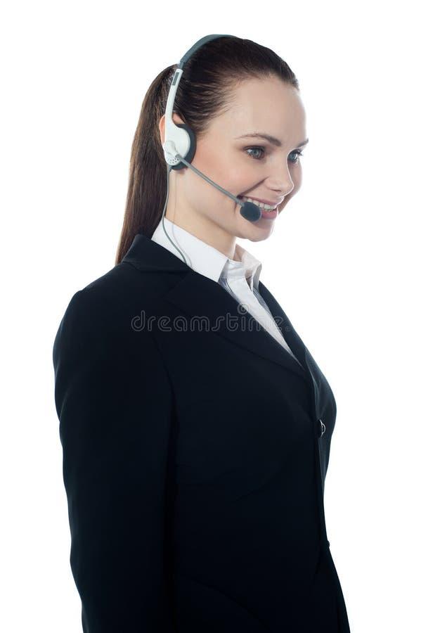 Bello esecutivo della femmina del servizio d'assistenza immagini stock