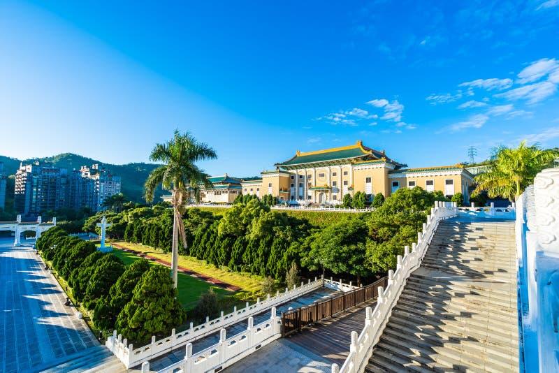 Bello esterno della costruzione di architettura del punto di riferimento del museo di palazzo nazionale di Taipeh in Taiwan immagine stock