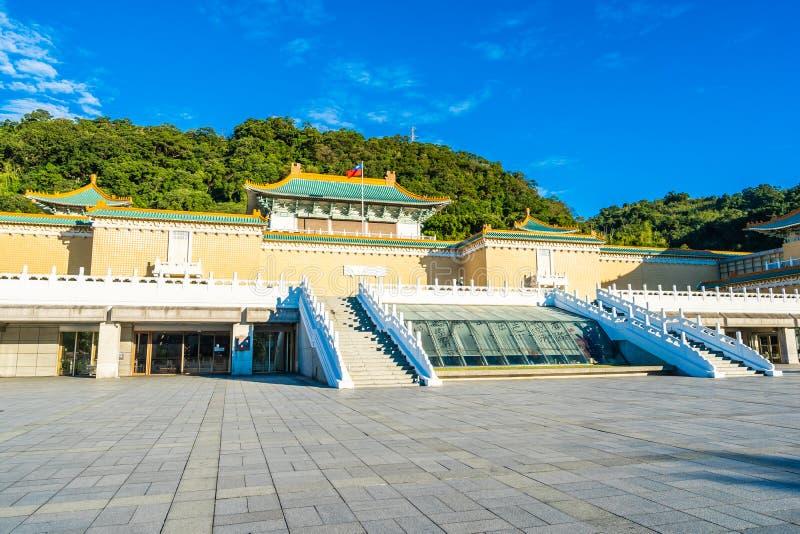 Bello esterno della costruzione di architettura del punto di riferimento del museo di palazzo nazionale di Taipeh in Taiwan fotografia stock libera da diritti