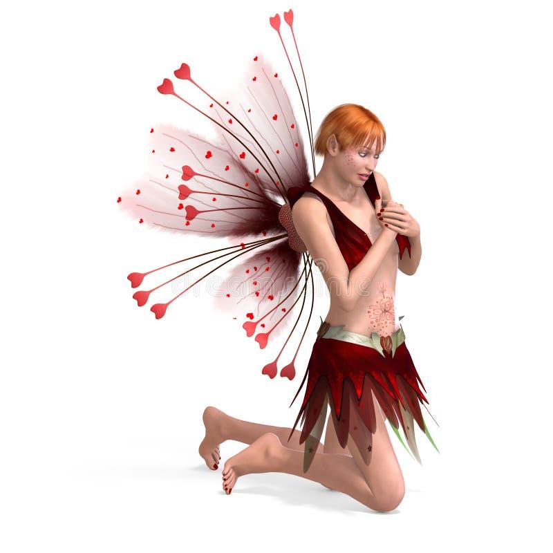 Bello Fairy con le ali illustrazione vettoriale