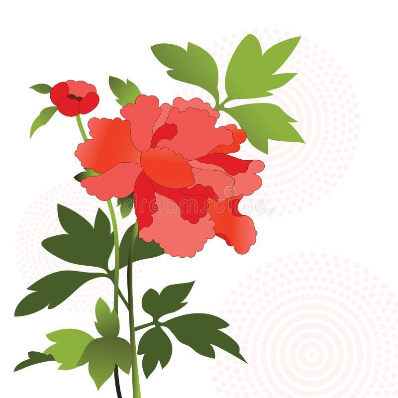 Bello fiore illustrazione di stock
