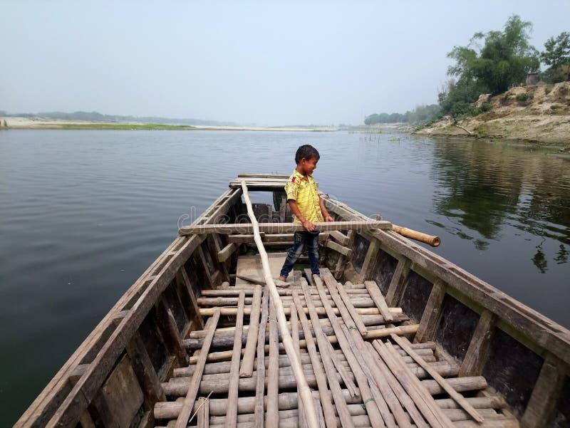Bello fiume del Bangladesh fotografia stock