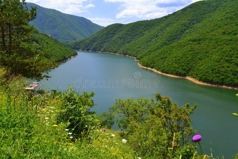 Download Bello fiume della montagna fotografia stock. Immagine di diga - 56880722