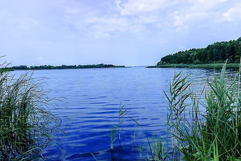 Bello fiume in Russia centrale fotografia stock