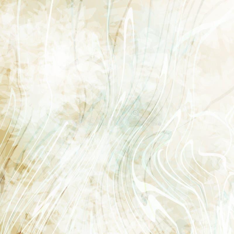 Bello fondo astratto con gli spruzzi di pittura bianca Struttura variopinta del grunge Punti di colore Linee distorte illustrazione vettoriale