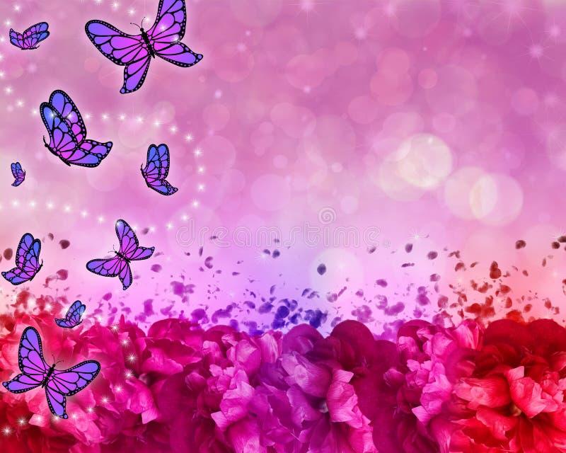 Bello fondo astratto modellato farfalla illustrazione di stock
