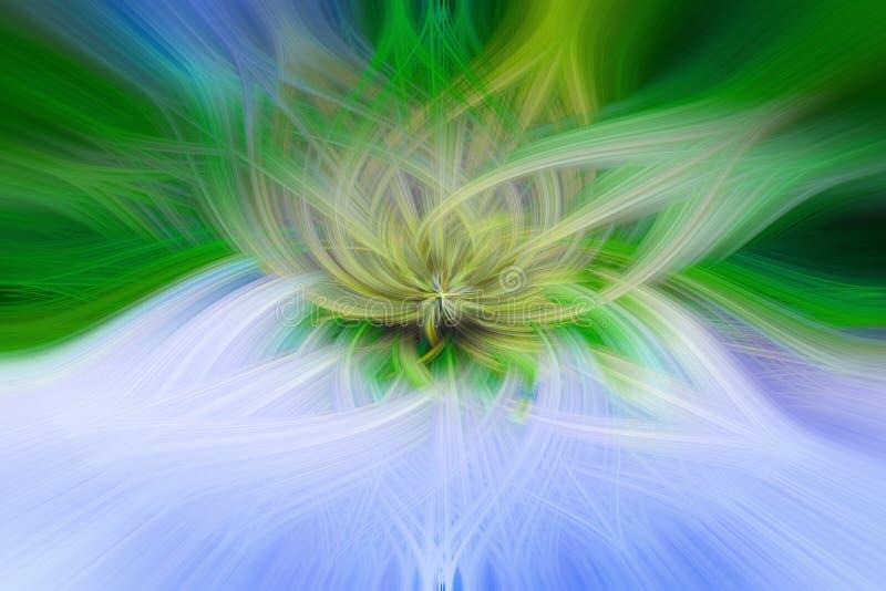 Bello fondo astratto nei toni blu, verdi, gialli ed arancio illustrazione vettoriale