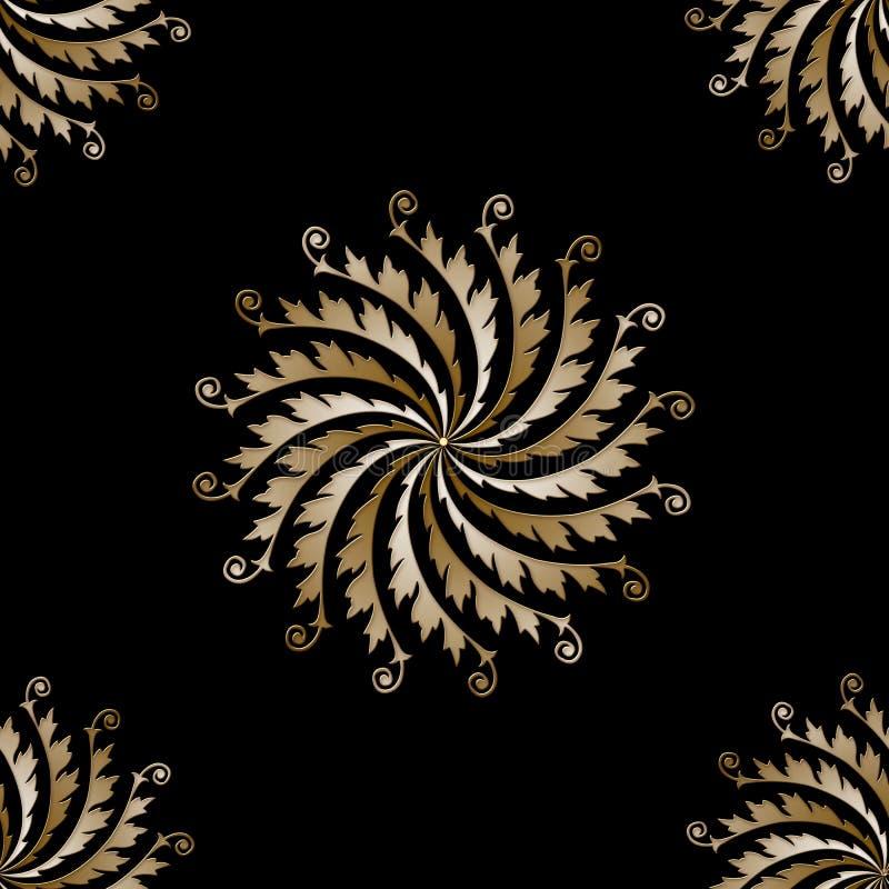 Bello fondo astratto, ornamento dell'oro illustrazione vettoriale