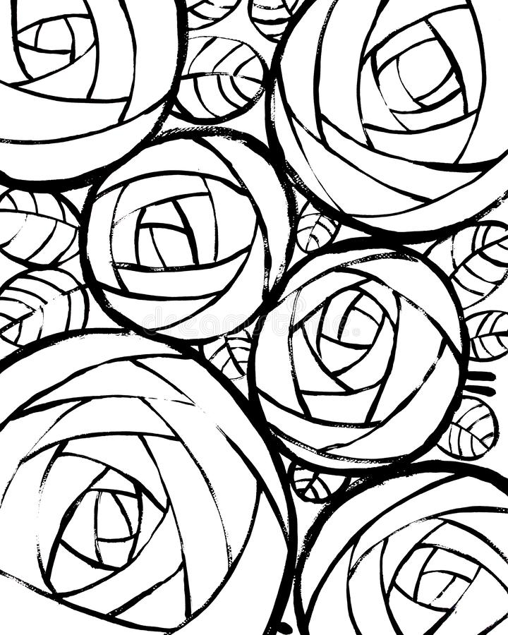 Bello fondo decorativo con le rose illustrazione vettoriale