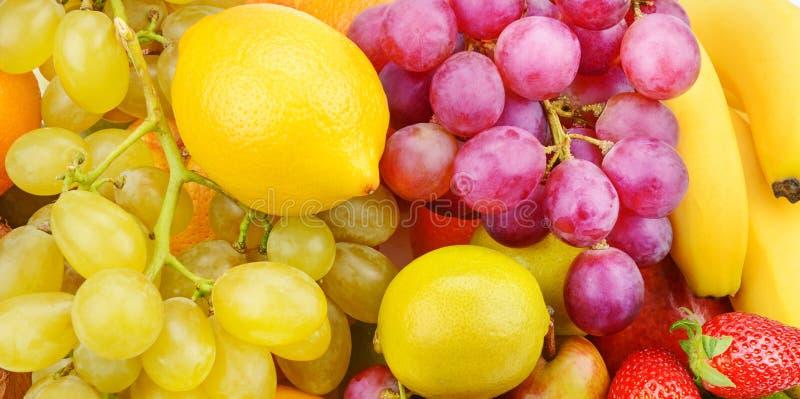 Bello fondo dei frutti maturi Alimento sano organico Ampia foto immagine stock libera da diritti