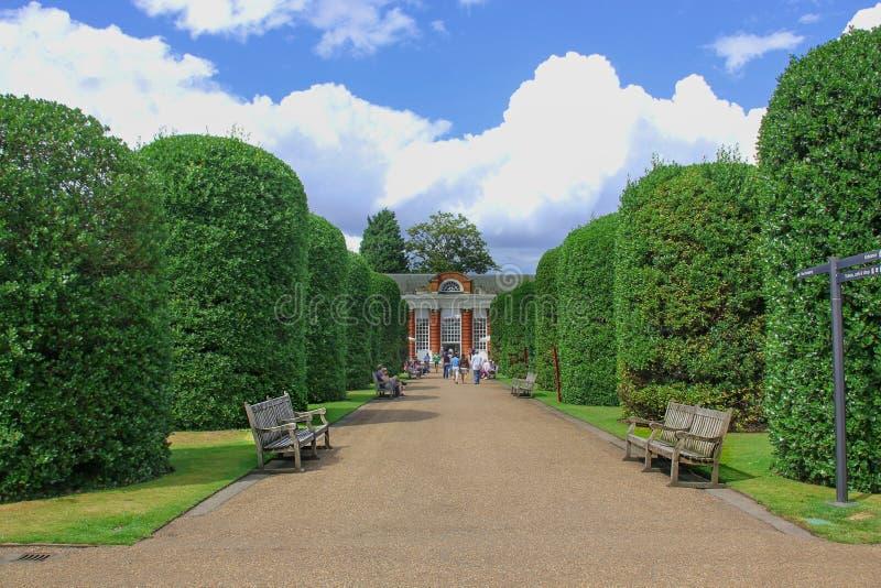 Bello fondo della decorazione di arte del giardino nel parco pubblico di Londra fotografia stock libera da diritti