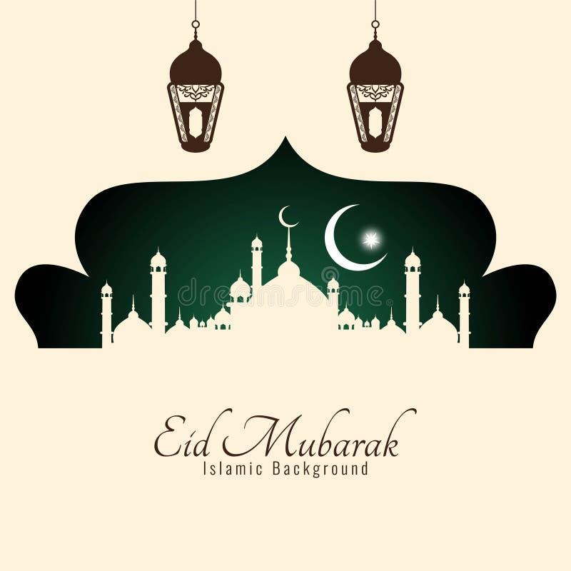 Bello fondo di festival di Eid Mubarak Islamic royalty illustrazione gratis