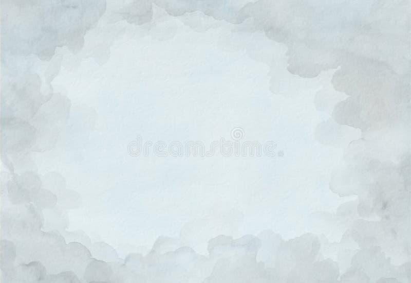 Bello fondo grigio dell'acquerello su Libro Bianco Per il testo, strutture, insegne, opuscoli, manifesti, logo, progettazione Dis fotografia stock