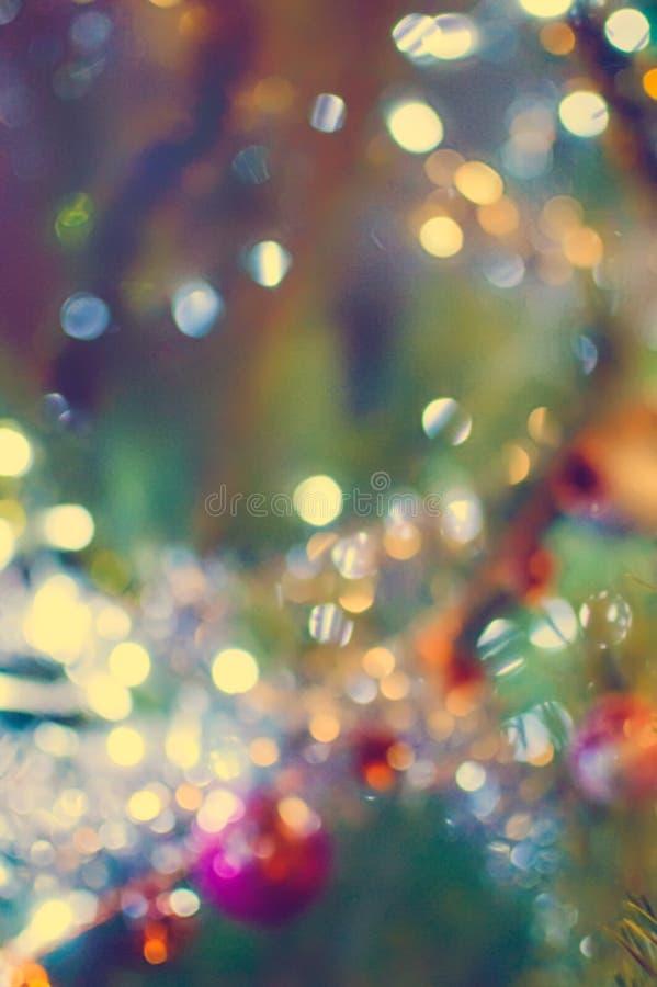 Bello fondo multicolore vago di natale con bokeh fotografia stock