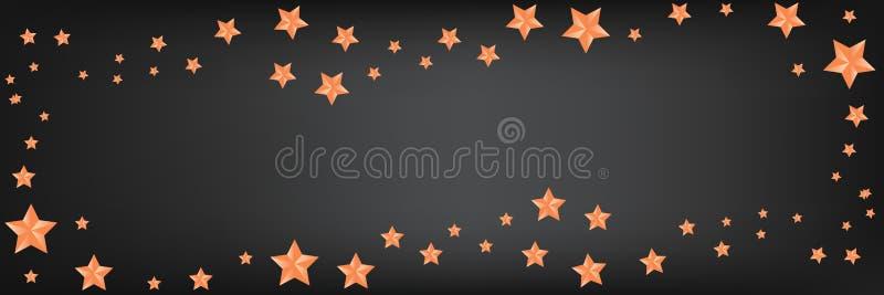 Bello fondo panoramico con le stelle dorate, copia-spazio per testo royalty illustrazione gratis