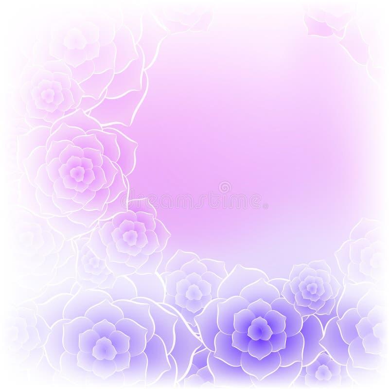 Bello fondo porpora del fiore della rosa di rosa illustrazione di stock