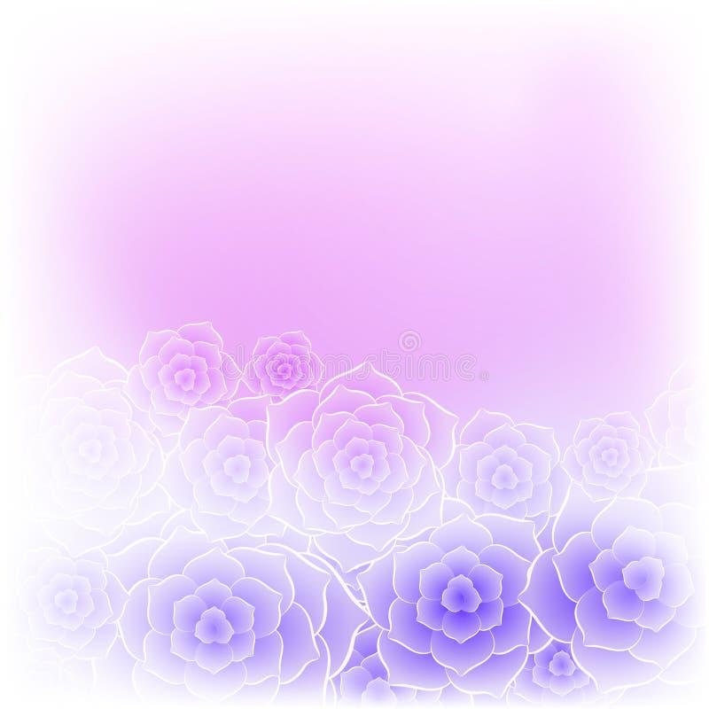 Bello fondo porpora del fiore della rosa di rosa royalty illustrazione gratis