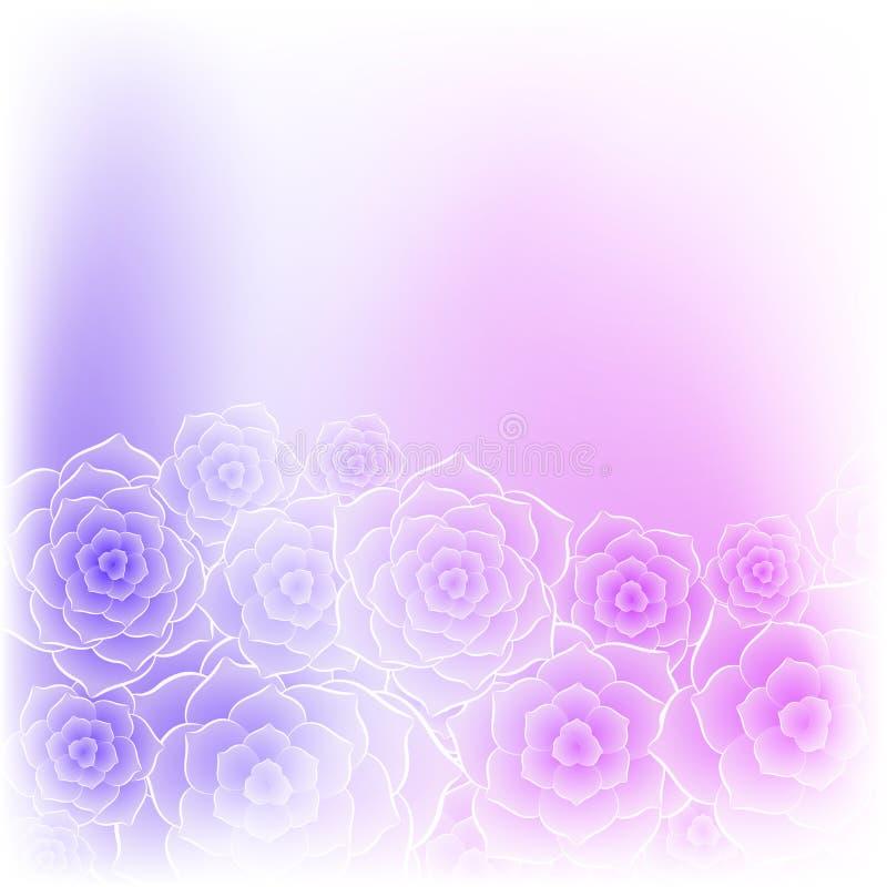 Bello fondo porpora del fiore della rosa di rosa illustrazione vettoriale