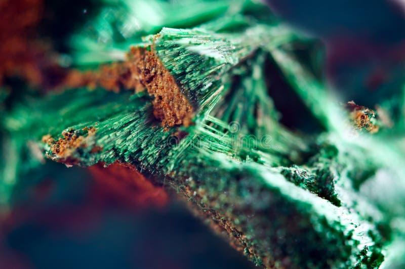 Bello fondo verde di malachite minerale naturale Macro fotografia stock